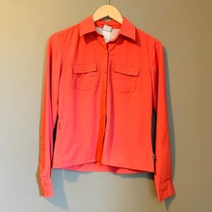 The North Face salmon coloured button down top